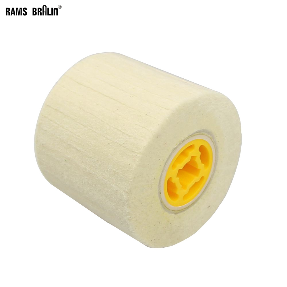 110*100*19mm Wool Felt Wheel For Metal Polish Stainless Steel Aluminium Scratch Repairing Drum Sander Tools