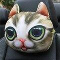 3D мультяшная Автомобильная подушка для шеи  подголовник для кошек и собак  удобная Автомобильная подушка для сиденья  подголовник  аксессуа...