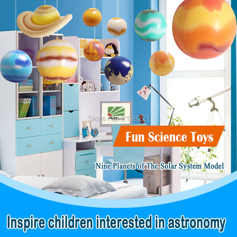US $24 0 52% OFF|10 Pieces/Set Solar Galaxy Teaching Model Balloons Charm  Simulation Nine Planets In Solar System Children Blow Up Inflatable Toy-in
