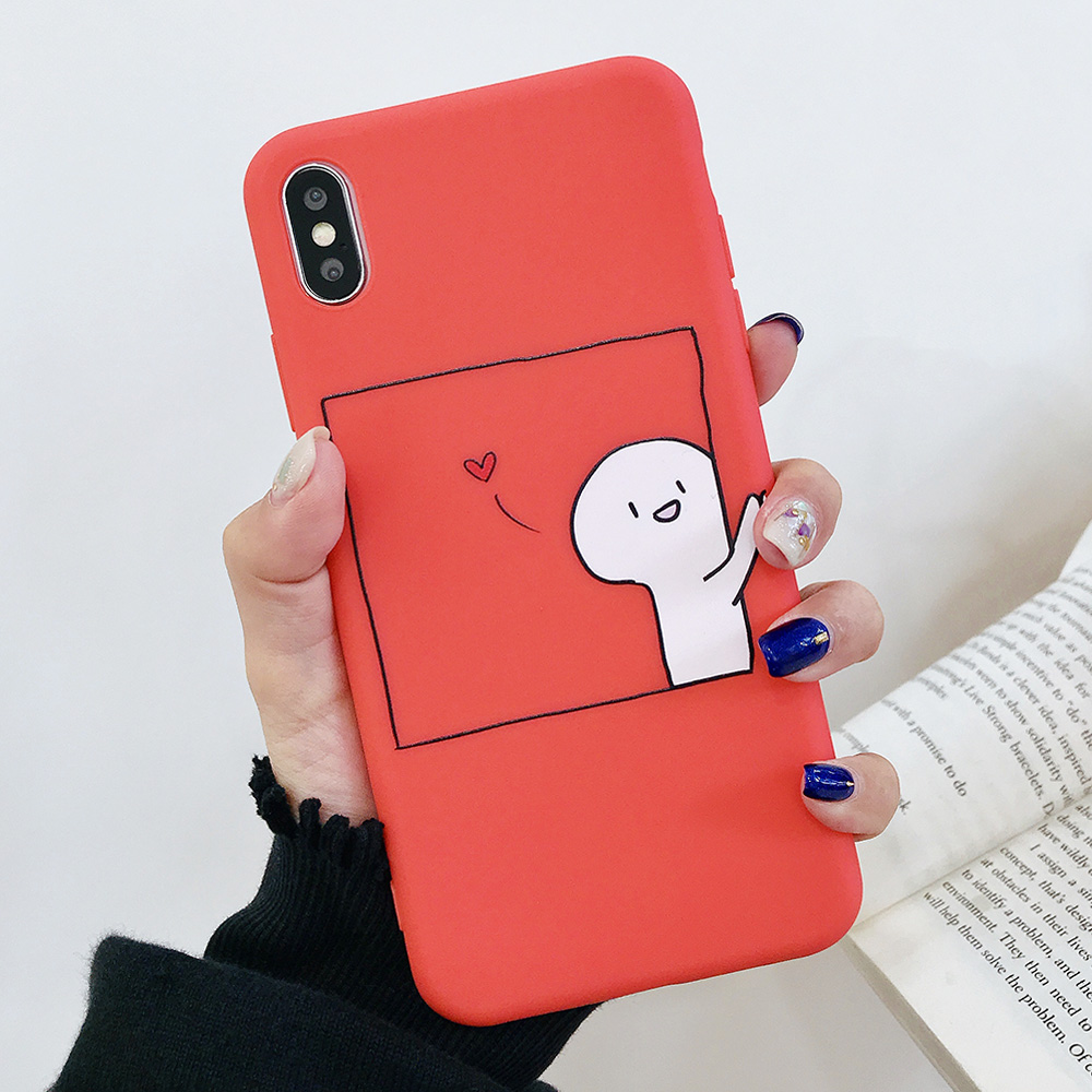 KIPX1076A_1_JONSNOW Couples Style Soft Case for iPhone 7 8 6S 6 Plus Silicone Case for iPhone X XR XS Max Cartoon Painted Back Cover