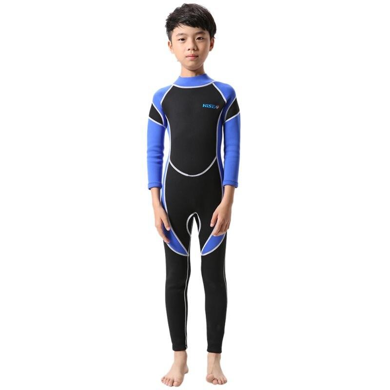 1 Piece Neoprene Wetsuits Kids Swimwears Long Sleeves Boys Girls Diving Suits Surfing Children Rash Guards Snorkel