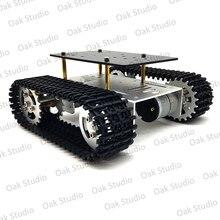 Mini T10 akıllı Tank araba şasi paletli Caterpillar paletli Robot platformu DIY Arduino için