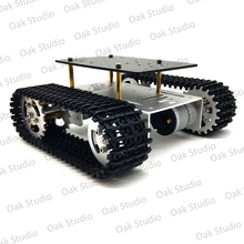 Mini T10 inteligentne cysterna podwozie gąsienicowe gąsienica Robot platforma dla majsterkowiczów Arduino