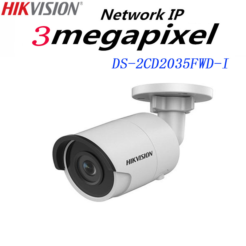 Hikvision English version DS-2CD2035FWD-I 3MP Ultra-Low Light Network mini Bullet IP CCTV security Camera POE SD card H.265+ игра eastcolight mp 450 телескоп 2035