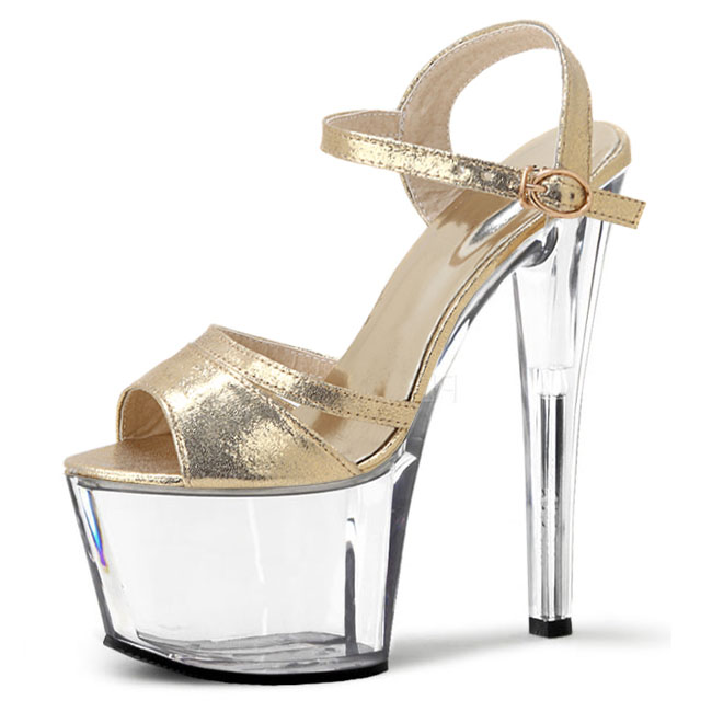 ФОТО Han edition of high-grade gold flash dress shoes high heels show a fashion show