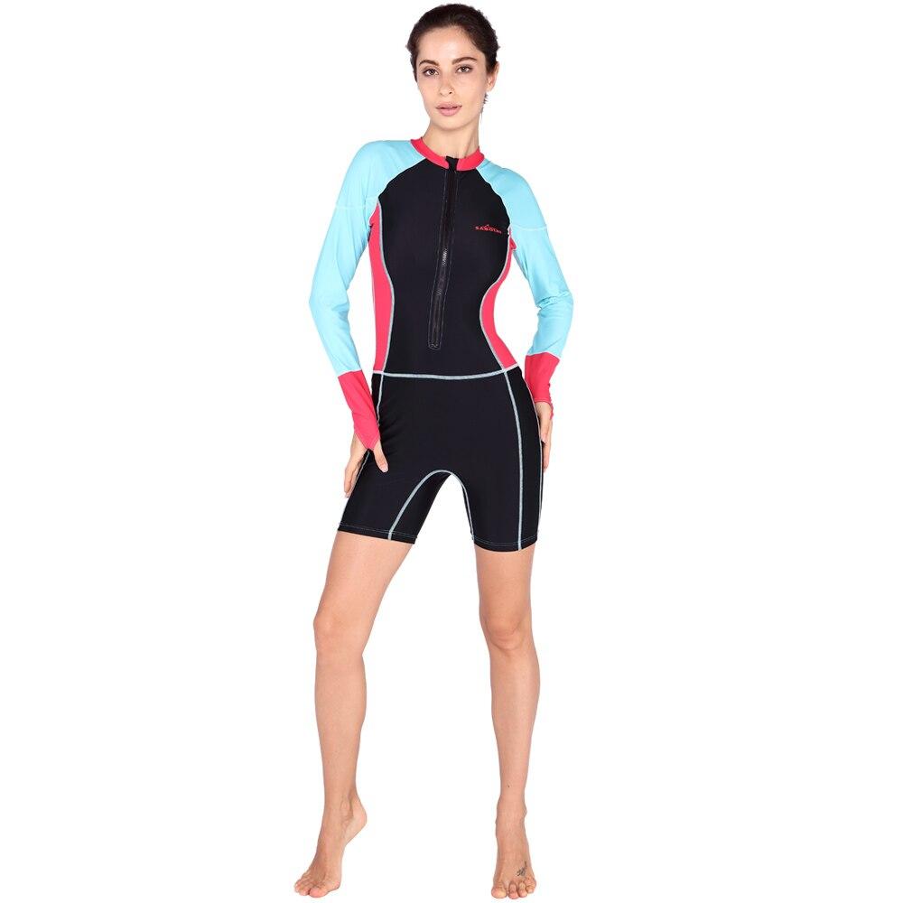 SABOLAY Women one piece Rashguard surf Upf50 guard swimwear lycra wetsuit scuba diving equipment zipper tights elastic swimsuit