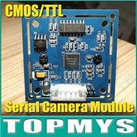 המצלמה 0.3MP משלוח חינם סדרת מודול TM-S403 הסידורי RS-232 נמל המצלמה מודול מצלמה אינפרא אדום JPEG צבע מלא תכנית