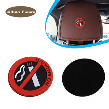 General Rubber No Smoking Sign Warning Sign Sticker Car Door Sticker Sticker Promotion Car Interior Sticker Creative Ornaments image