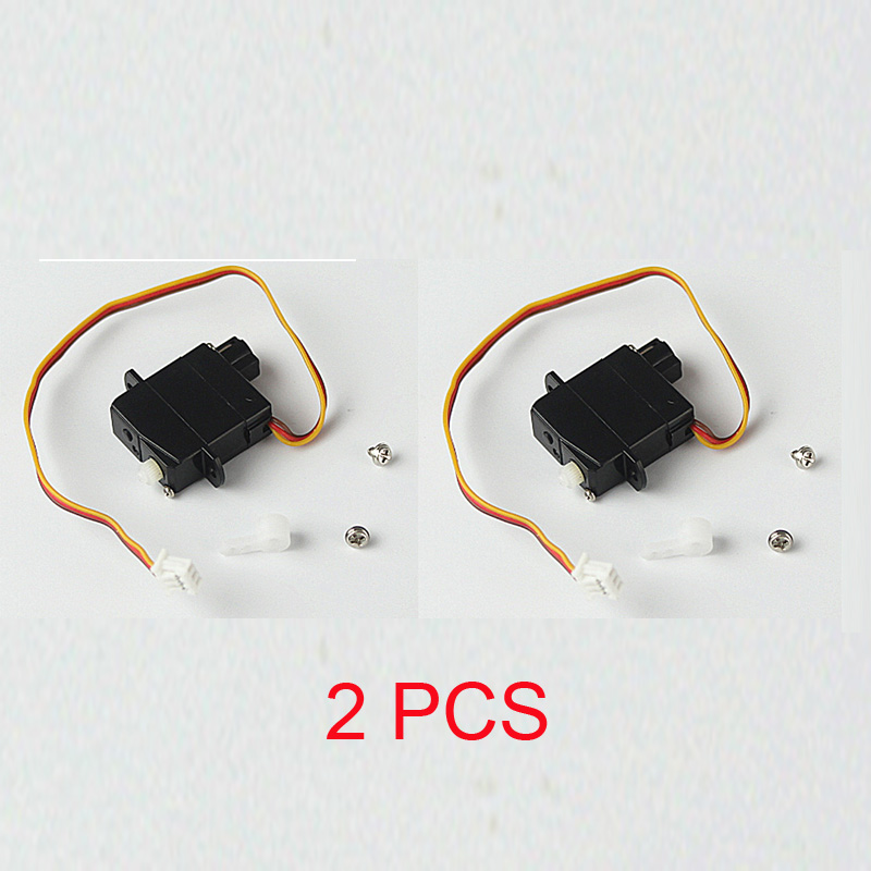 2PCS Wltoys V977 V930 V966 V988 V931 / XK A600 K100 K110 K123 K124 Servo Rudder Servos RC Helicopter Spare Parts Accessories