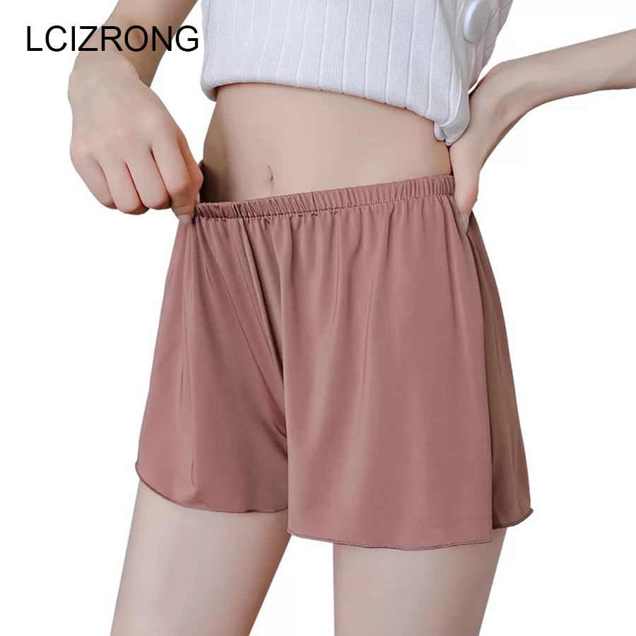 Summer Plus Size Short Sleep Bottoms Women Safety Short Leggings Sexy Loose Outwear Hot Pants Black White Skin Home Nightgown