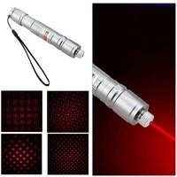Puissant Pointeur Laser Rouge 650nm 1 mw Mini Laser Stylo Réglable Étoilée Tête Lumière Brûlant + 18650 Rechargeable Batterie + chargeur