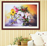 Flower Cross Stitch Embroidery,Silk Ribbon Embroidery Kits, Embroidery Paintings,Needlework Swing Handmade Craft Gift 55*75cm