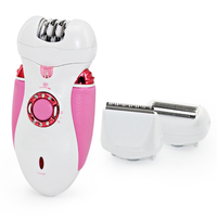 Ready Stock 3 In 1 Lady Rechargeable Cordless Hair Removal Body Facial Hair Epilator Trimmer Beauty