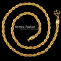 ( 500*5mm) Fashion 24 K Gold Plated Necklace Chain  for Free Shipping