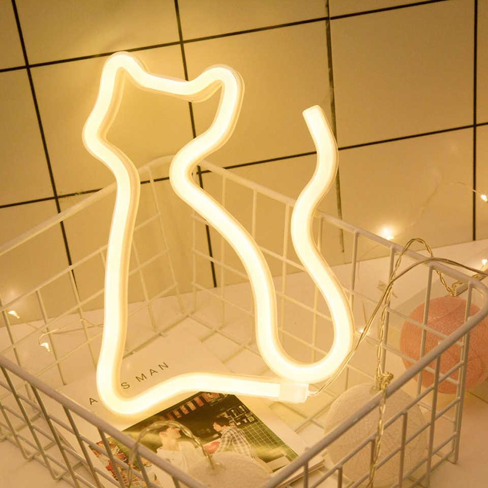 Xsky Ins светодиодный неоновый знак Фламинго Единорог свет трубки Луна облако вывеска неоновые лампочки лампа для рождества, рождественской вечеринки домашний Декор стены освещение