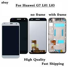 Marco de pantalla táctil LCD completa de 5,5 pulgadas para HUAWEI Ascend G7, montaje de pantalla LCD, G7 I01, piezas de repuesto l01 de G7 I03