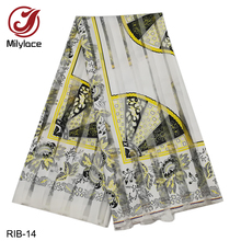 Milylace Ribbon Organza Ankara Fabric 5 yards 2019 Hot Fashion African Printing Lace for Dresses RIB-04-14