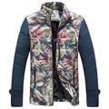 Men Thick Jackets 2016 Winter Fashion Men Jackets Coats Slim Fits Flowers Men Outwears Plus Size 6XL Hot Sale Men's Coats Jacket