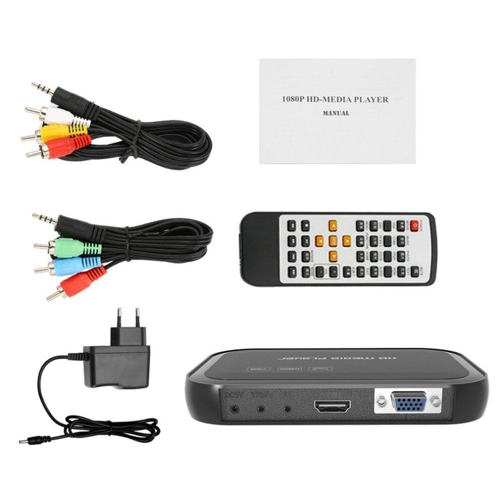 Lecteur multimédia 3D multifonction Full HD 1080 P avec télécommande 01 HDMI VGA plusieurs Modes répéteur multimédia HD