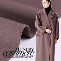 Кремовый нежный двухсторонний кашемировое шерстяное пальто куртка кашемир ткани ткань оптовая продажа высокое качество шерстяная ткань