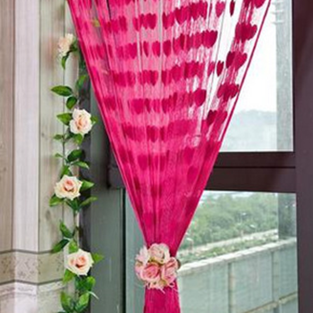 Curtain For Balcony: Beautiful Heart String Curtain Window Door Balcony Home