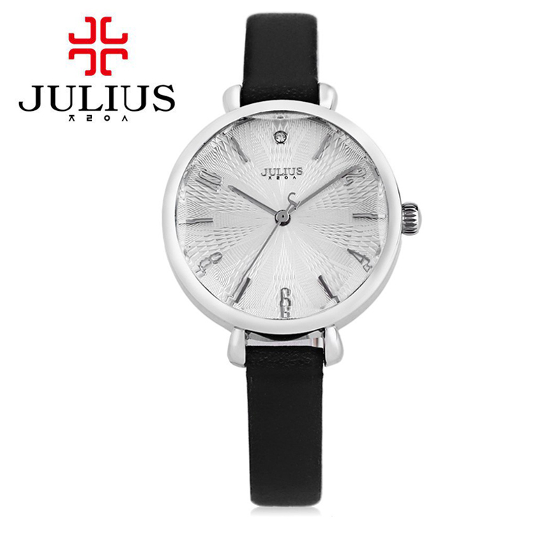 JULIUS Relojes Mujer cuarzo-reloj 2018 reloj de moda mujeres reloj de cuarzo  correa de cuero genuino Relogio Feminino reloj 7e297769acea