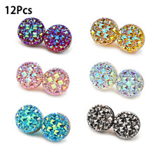 1 PC/12 Pcs Fashion Muslim Abaya Diamond Craft Pin Magnetik Hijab Magnet Pin Syal Magnet Yang Kuat Bros Perhiasan(China)