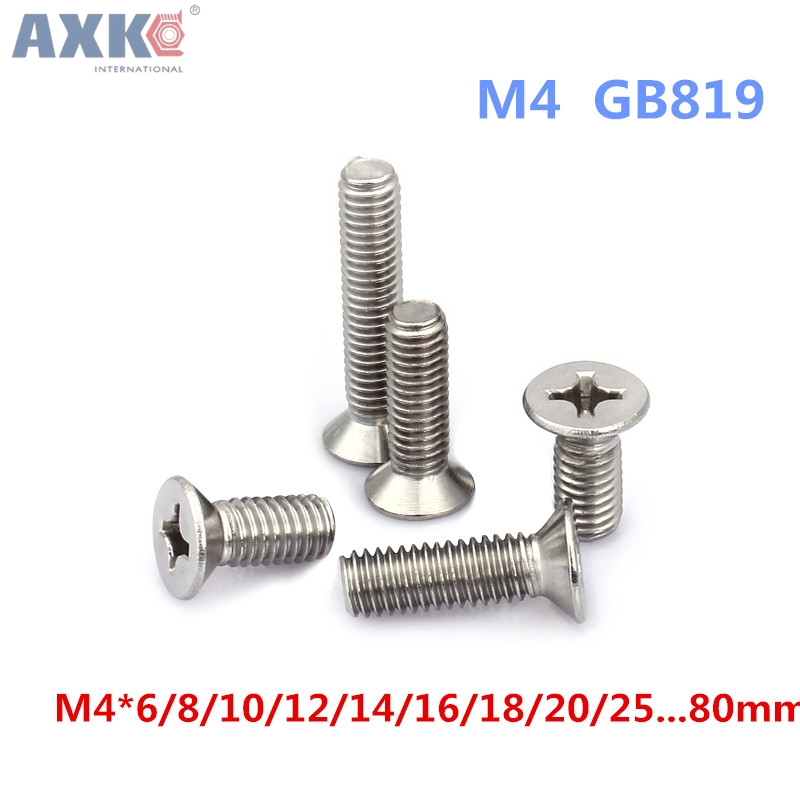 Pack of 20 M4*10mm M4 Metric Torx Countersunk Flat Stainless Steel Screw Bolt