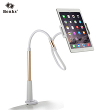 Benks Flexible Arm 4-10inch Tablet & Phone Stand Holder 100/130cm Detachable Lazy People Long Bed Desktop Mount for iPad White