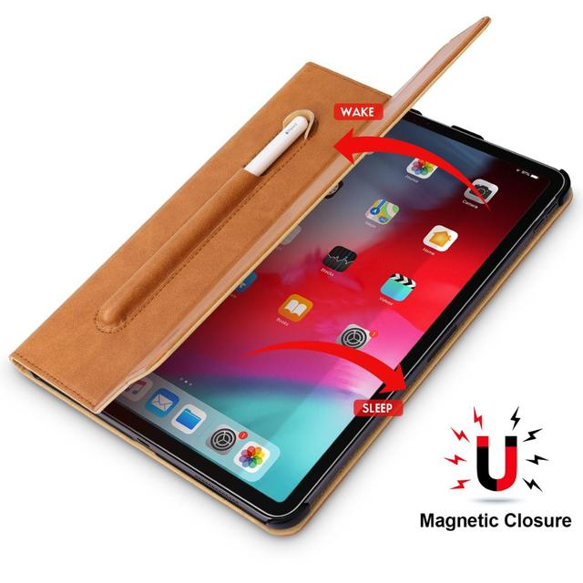 For iPad Pro 11 Case Microfiber Tablet Case with Pencil Slot 2018 Funda Slim Smart Cover for iPad 11 inch Case Magnetic Ultra