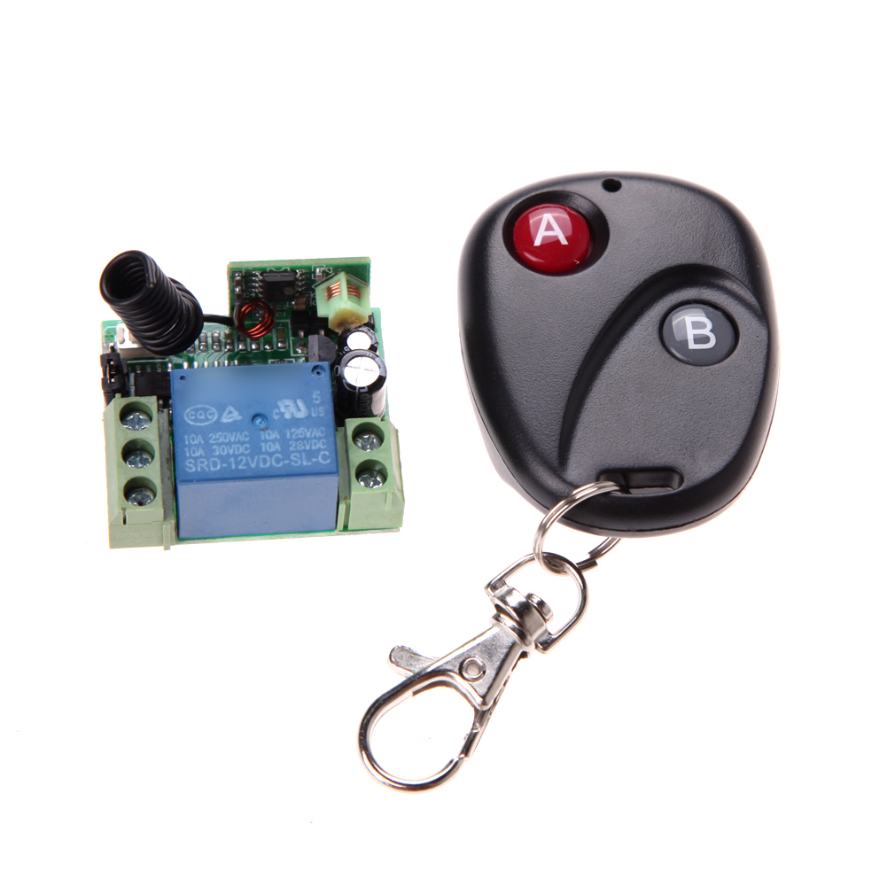 1pcs DC12V 10A 315MHz Wireless Remote Control Switch Transmitter with Remote Control Receiver dc24v remote control switch system1receiver