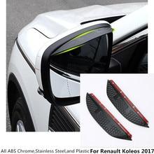 car For Renault Koleos 2017 2018 2019 body stick rear Rearview glass Mirror Rain Eyebrow Shield Sun Visor Shade plastic 2pcs/set