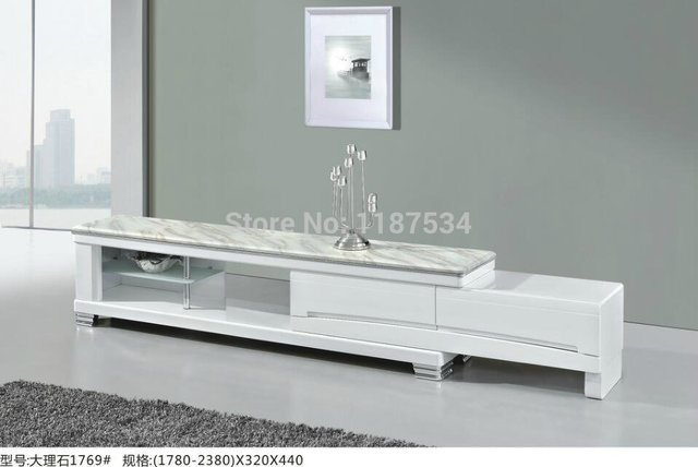 1769 home furniture stretch wood and marble top tv stand tv table