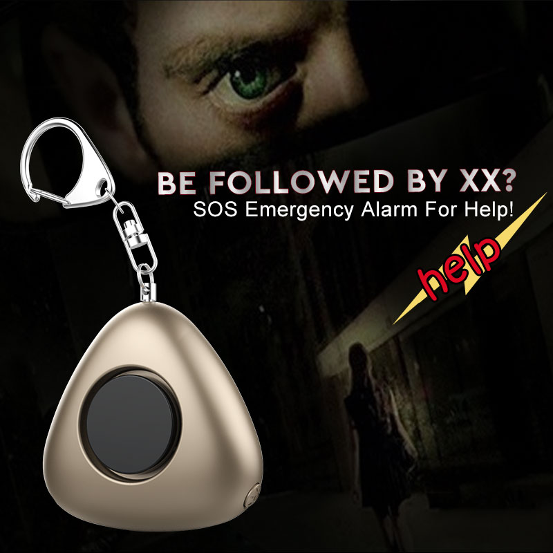 Ariza Portable SOS Emergency Personal Alarm Keychain Anti-Attack Anti-Rape Anti-lost with LED light for Women Children Elderly personal anti lost alarm device for kid pet purse bag cell phone blue black 1 cr2032 2 cr2032