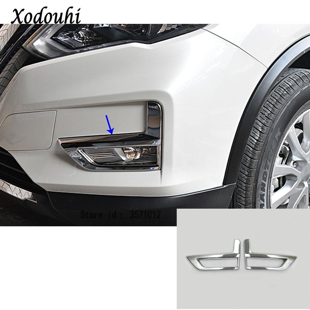 For Hyundai Kona 2017 2019 Chrome Front Fog Light Lamp: For Nissan X Trail XTrail T32/Rogue 2017 2018 2019 Car