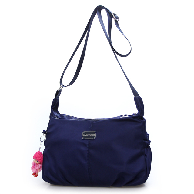 Cor Pure bonito ombro de nylon saco de lazer e bolsa de viagem à prova d' água Luz Contratada coringa das mulheres saco do mensageiro frete grátis