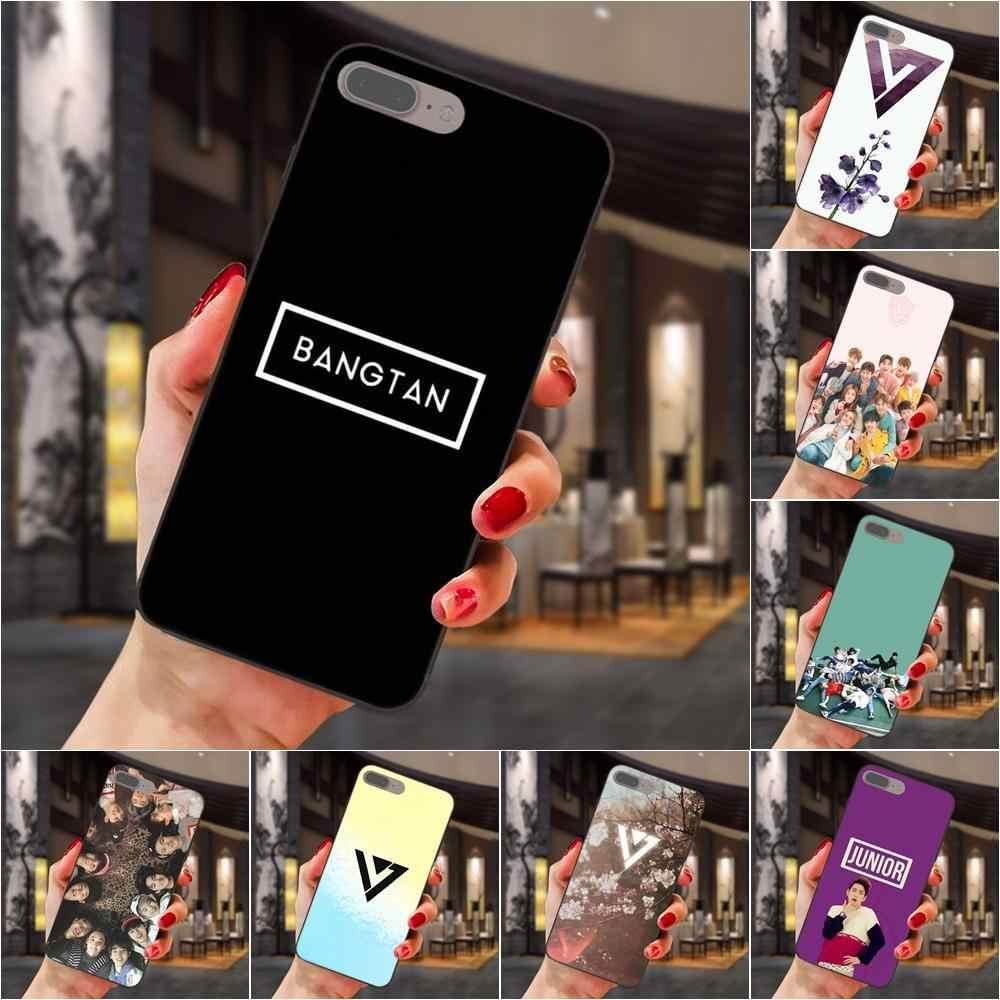 Kpop Tujuh Belas Logo Wallpaper Hitam Soft Shell Untuk Samsung Galaxy Note 4 8 9 S3 S4 S5 S6 S7 S8 S9 S10 Edge Plus Lite I9080 G313 Aliexpress
