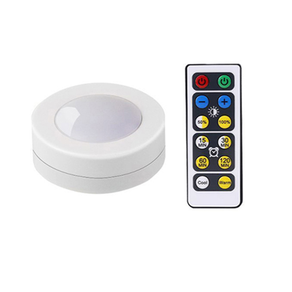 LED Kitchen Under Cabinet Lamp Wireless Dimmable Touch Sensor Cupboard Night Light With Battery Power Remote Control Suitable