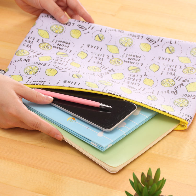1Pc Waterproof PU Leather Folder Cute Mini File Bag Document Manila Stationery Filing Products School Office Supplies In From