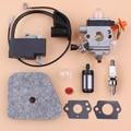 Комплект карбюратора для катушки зажигания  воздушного фильтра для STIHL FS87 FS90 FS100 HL100 HL95 KM90 HT100 KM100 KM130  Ремонтный триммер  запчасти