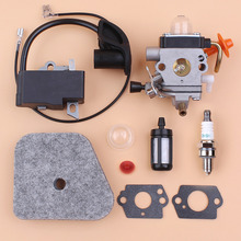 Carburetor Ignition Coil Air Filter Spark Plug Kit For STIHL FS87 FS90 FS100 HL100 HL95 KM90 KM100 KM130 String Trimmer Strimmer