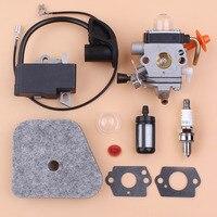 Carburetor Ignition Coil Air Filter Kit For STIHL FS87 FS90 FS100 HL100 HL95 KM90 HT100 KM100 KM130 String Trimmer Repair Spares