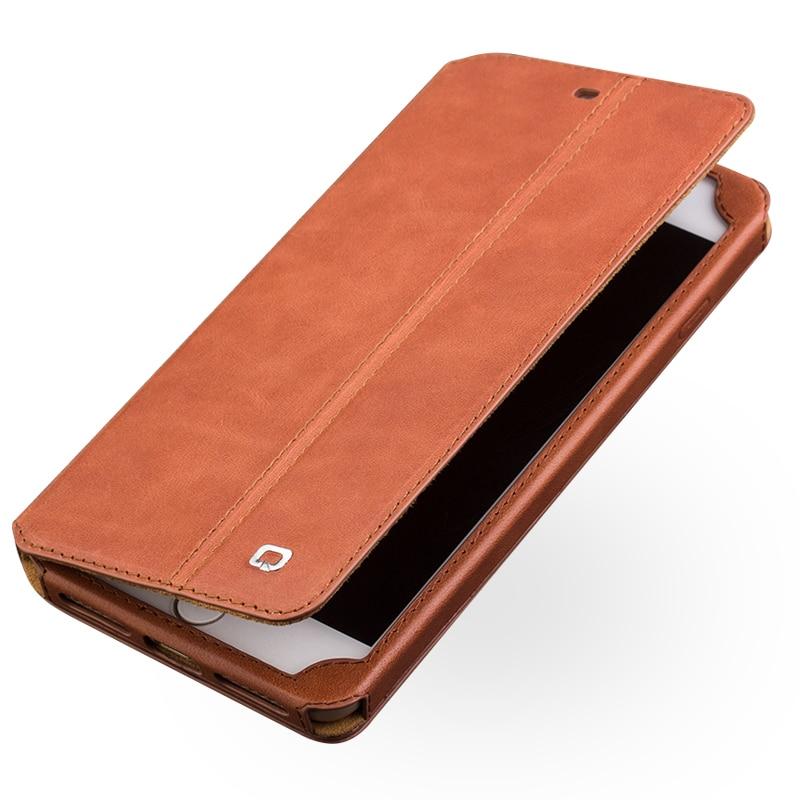 QIALINO étui pour iPhone 7 en cuir avec porte-carte d'affaires étui mince en tant que portefeuille d'accessoires de première qualité pour iPhone 7 4.7 pouces