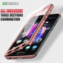 OICGOO Lüks 360 Derece telefon kılıfı Için Huawei P10 P9 P8 Lite Mate 10 Lite Pro 9 Telefon Kapak Kılıfları Için onur 9 Lite 8 K...