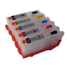 5x For HP 364 XL Refillable Ink Cartridge With Chip For HP DeskJet 3070A 3520 Officejet 4610 4620 Photosmart 5510 5520 6510 6520