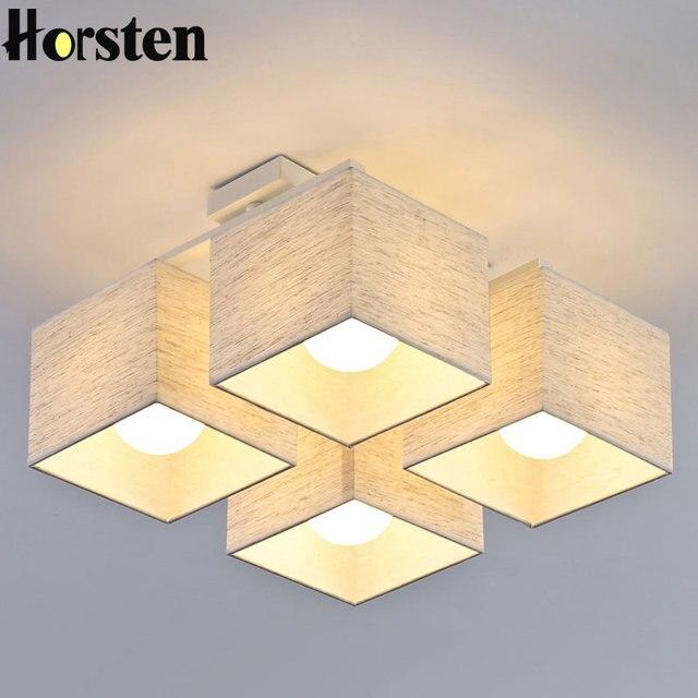 Horsten Nordic Europäischen Einfache Stoff Deckenleuchten 4/6/9 ...