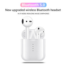Mini Wireless Bluetooth Headset V8 TWS Noise Cancellation Stereo Earbud Earphone With Charging Box Mic For All Smart Phone Eh* waterproof bluetooth headset sports wireless earphones 3dstereo noise cancellation earbuds mini inear mic with charging box eh