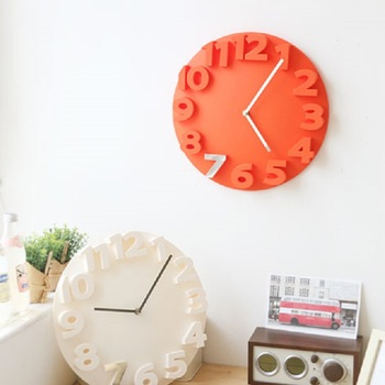 1 Pcs 3D ABS Plastic All-in-one Hanging Wall Clock Household Bathroom Utensil Kitchenware Decoration Art Watch 2018Fashion Style