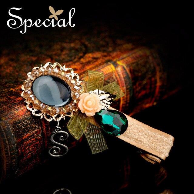 Special Vintage Hair Jewelry Wedding Hair Pin Silk Zircon Resin Girls Hair Accessories Hair Wear Gift For Women FS141139
