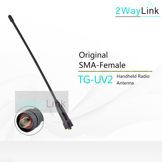 Originele Antenne Voor Quansheng TG UV2 Ham Walky Talky Originele TG UV2 Antenne High Gain Vhf Uhf Tri Band Antenne Voor quansheng